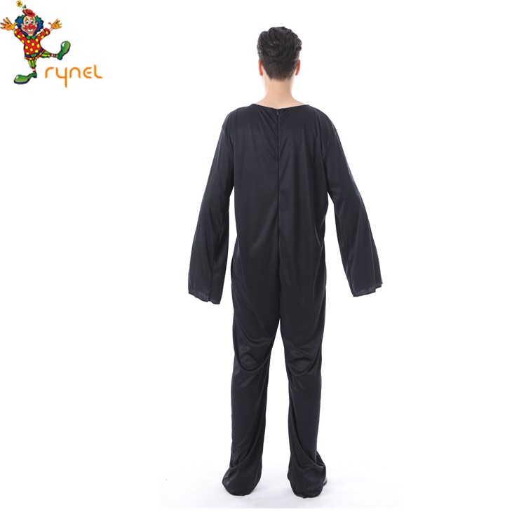 Classic Mens Jumpsuit Suger Skull Skeleton Halloween Fancy Dress Costume for sale