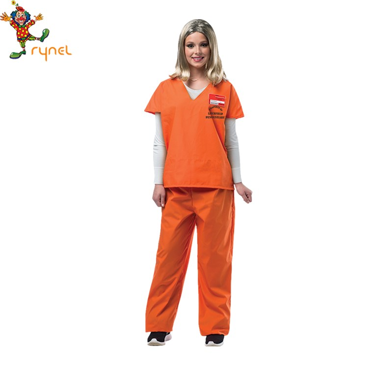 Classic Orange Cosplay Halloween Suit TV & Movies Women's Prisoner Costume for sale