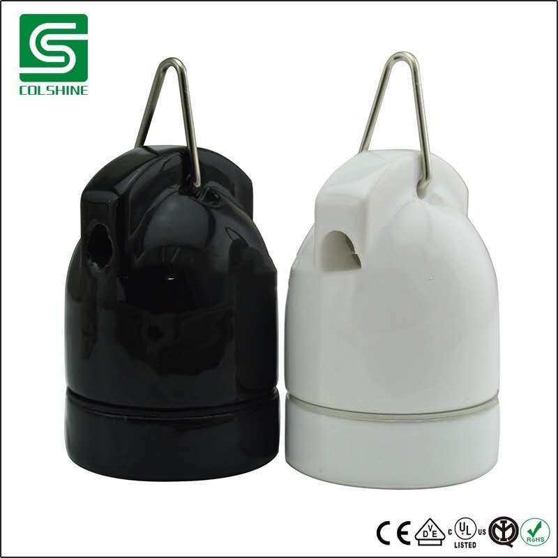 Hot sale & new designed E27 porcelain lampholder for pendant lighting sale