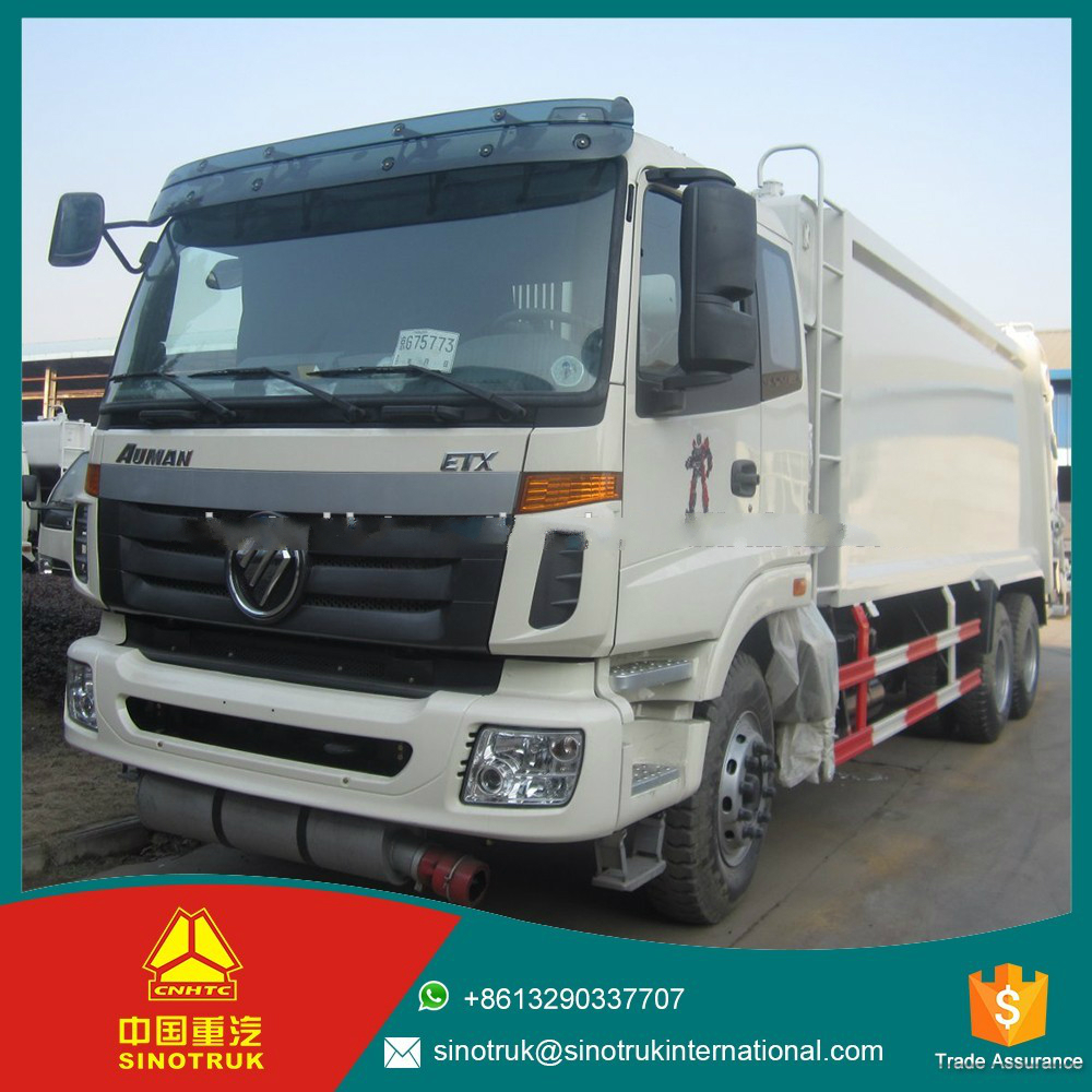 manual operation howo 336HP sanitation vehicle / 6*4 garbage truck for sale