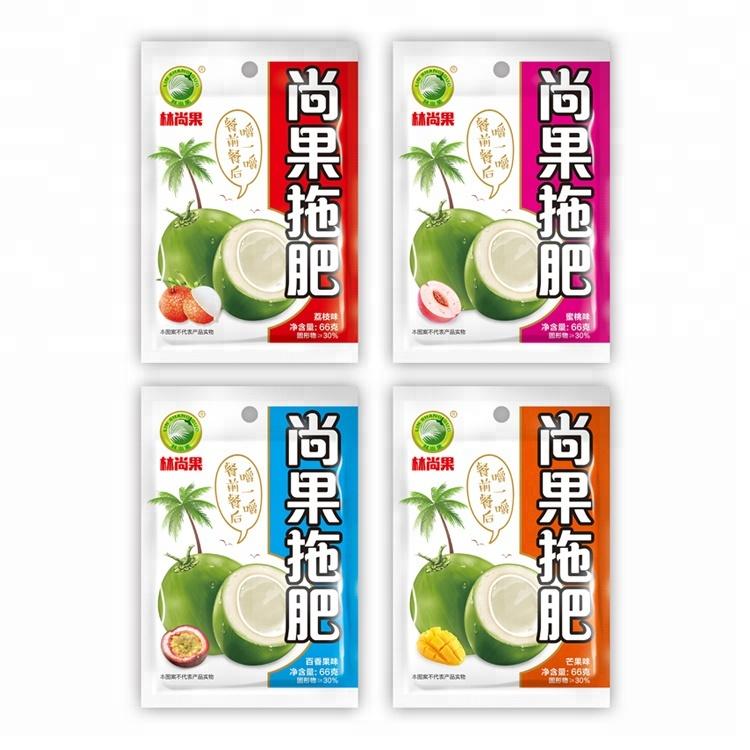 66g Peach fruit Juice soft drink nata de coco fruit