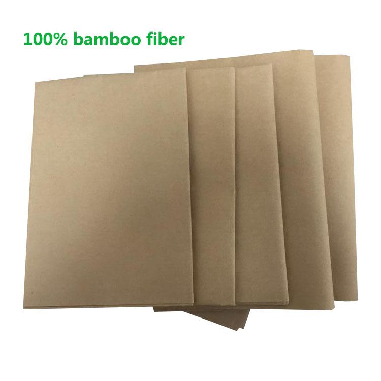 Ecological Bamboo Kraft Paper Sheet for Envelope Making for sale
