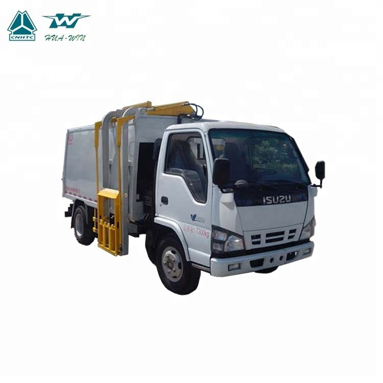 4x2 mobile kitchen waste food collecting compactor garbage collection dredge truck for sale