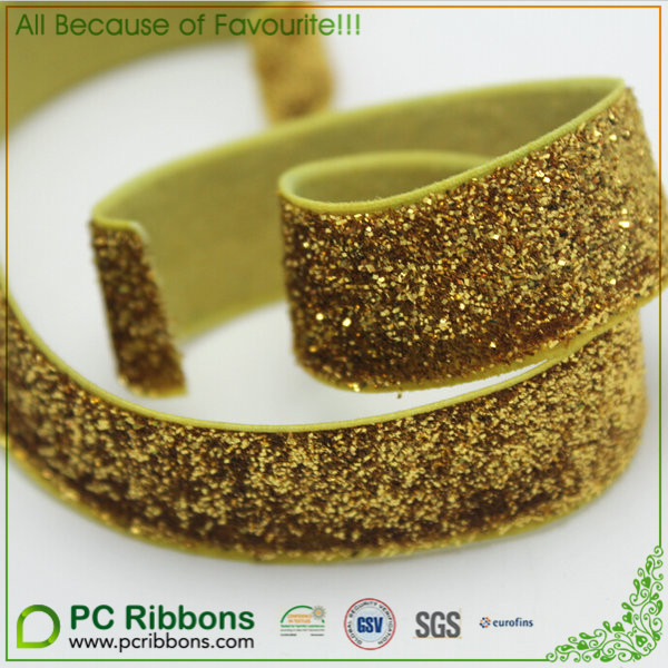 good quality god 5/8glitter elastic ribbons