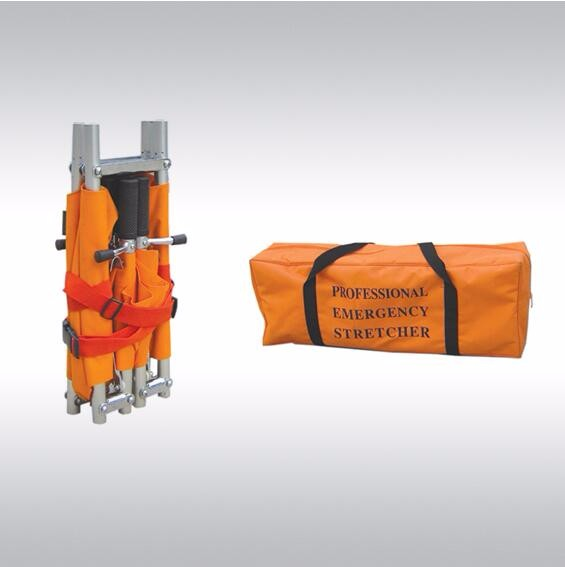 Die-cast Aluminum Alloy Double Folding Stretcher Bed for Emergency & Clinics Apparatus