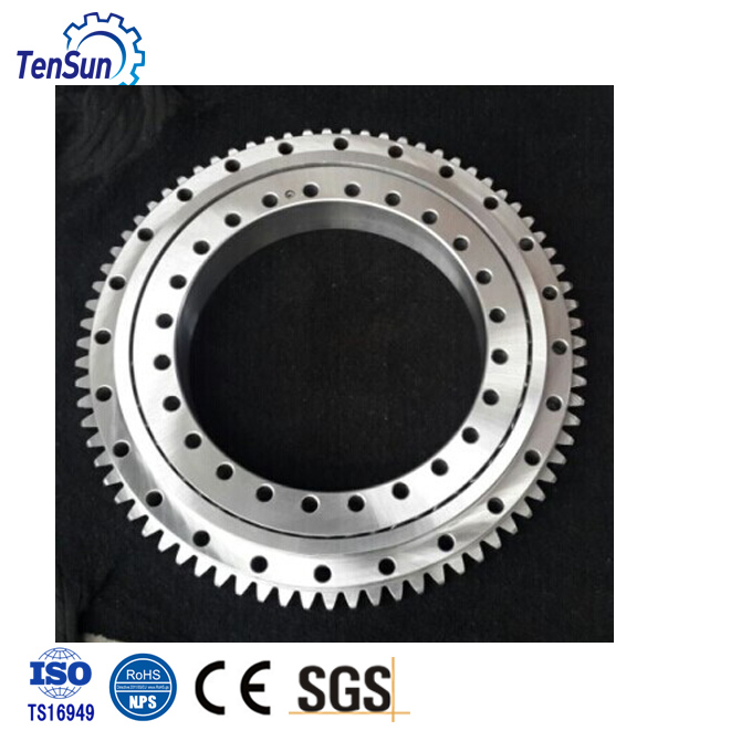 High durability customized four point contact ball slewing bearing for tower cranes, telehandlers, forest machinery for sale