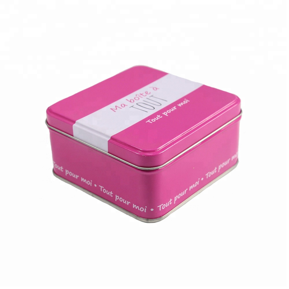 Customized high quality square tin gift box/can for candy or chocolate packaging for sale