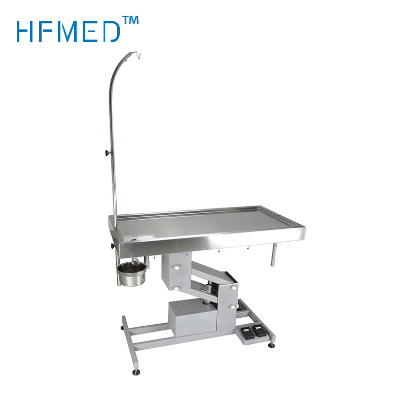 Flat-top Stainless steel dually used vet operating table/animal surgical table /Veterinary instrument