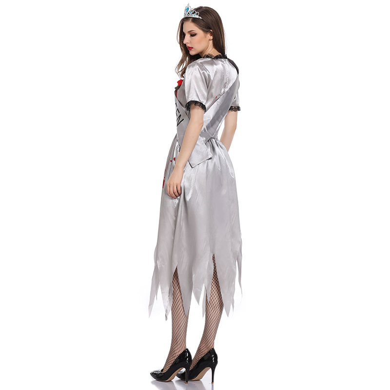 Gothic Vampire Zombie Bride Costume for sale