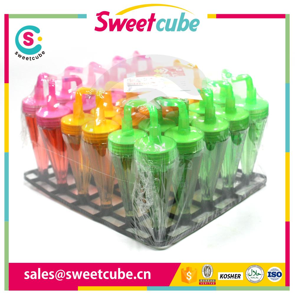 hotsale umbrella shape fruit flavors sour spray liquid candy
