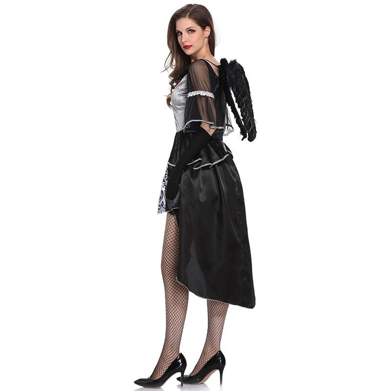 Black Dark Devil Fallen Angel Costume for sale