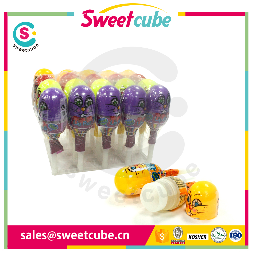 Ball type fruit Sour and sweet taste Lollipop liquid candy