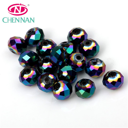 glass rondelle beads shinning plating glass beads multi color for jewelry making beads