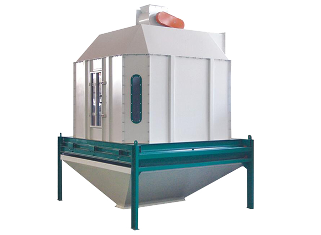 Cooler used for feed pellet cooling