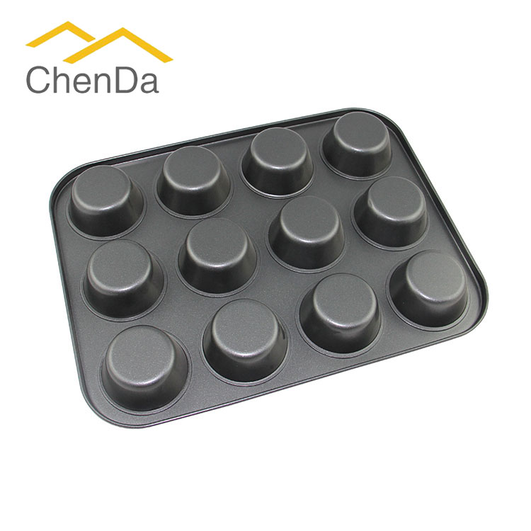 12 caps metal muffin bakeware CD-M1259 for sale