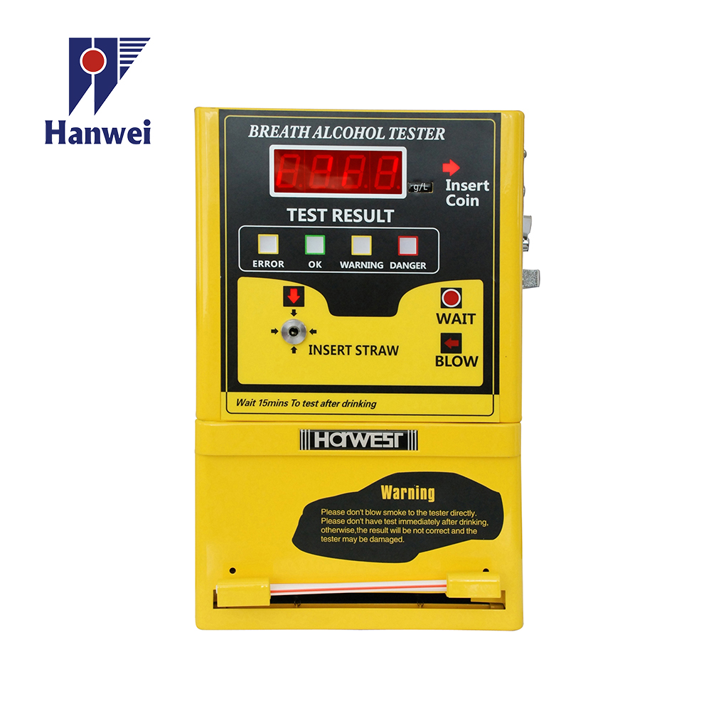 Public breathalyzer Digital Alcohol Tester with Coin-Operated for sale