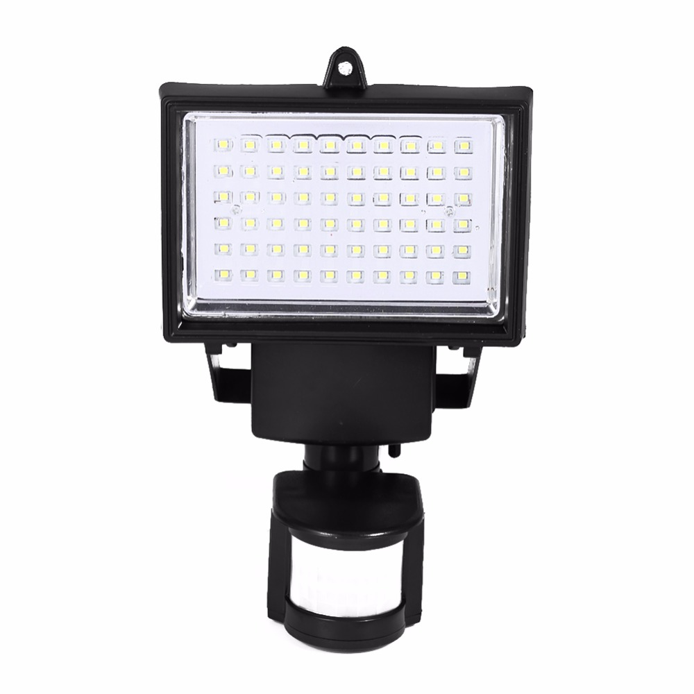 Solar Panel LED Flood Security Garden PIR Motion Sensor 60 LEDs Path Wall light Outdoor Emergency Lamp sale