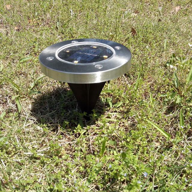 Garden Path Waterproof Recessed LED Solar underground Light with Solar Panel sale