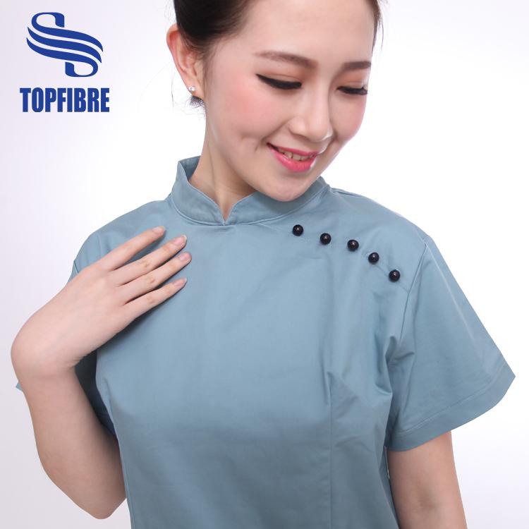 B10362 blend fabric salon uniform for sale