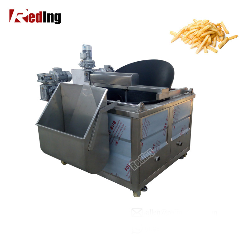 RD-1000 Fish Peanut Onion Continuous Deep Fryer Groundnut Chicken Frying Machine