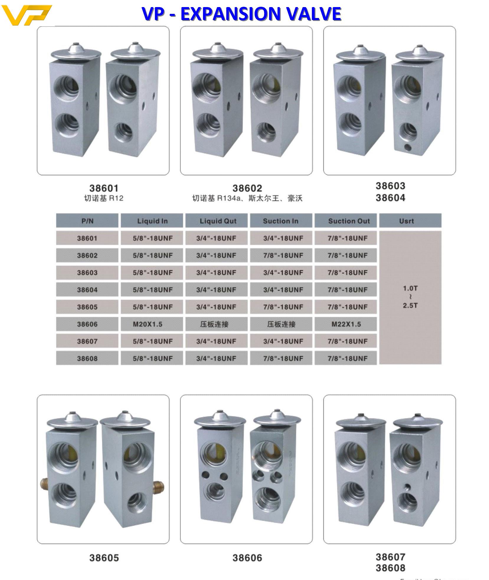 Car/bus/excavator expansion valves
