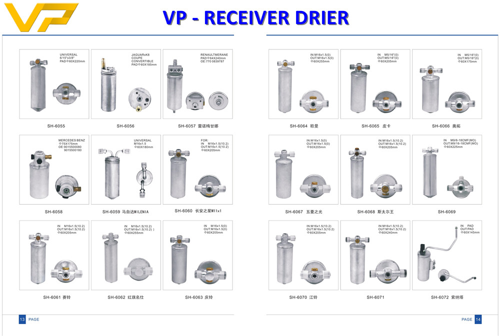 Receiver drier for car air conditioner system