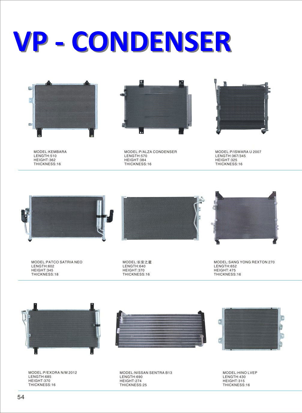 Air conditioner condenser for car