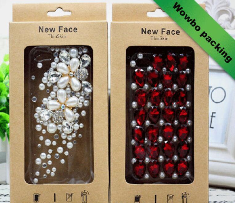 Wowbo brown kraft paper phone case packaging box wholesale