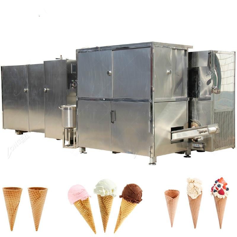 Stainless Steel Ice Cream Waffle Cone Making Machine Sugar Cone Baking Machine Supplier
