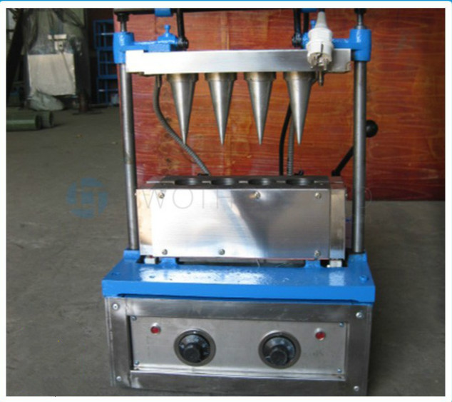 4 Heads Sugar Ice Cream Wafer Biscuit Cone Making Machine Supplier