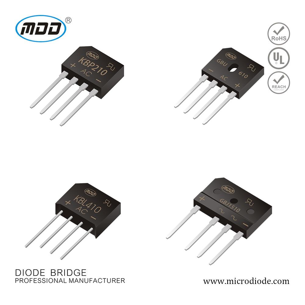 Bridge Rectifier Diode 2A 1000V KBP210 GBP210 KBL410 GBU610 GBJ1510