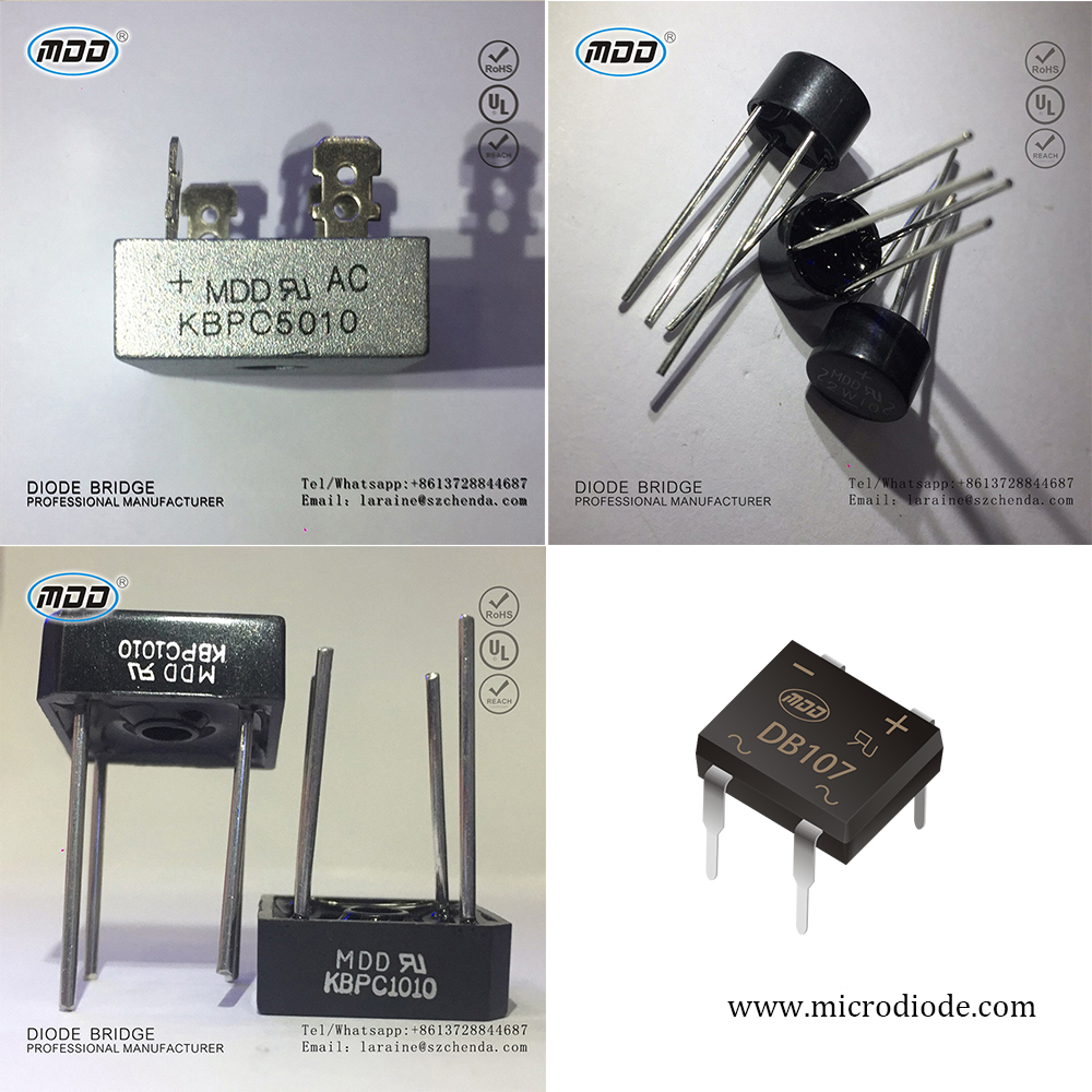 Hot Selling 10 Amp 1000V KBPC1010 10A Single Phase Bridge Rectifier Diode Pile KBPC5010 2W10 DB107