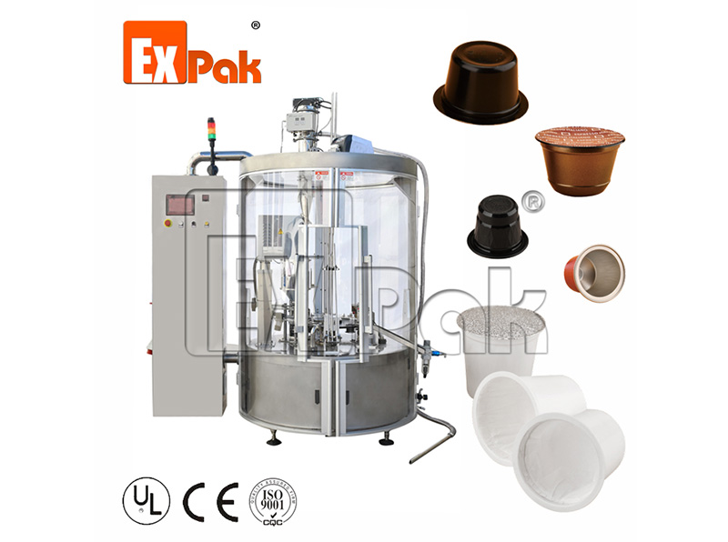 Rotary Type Coffee Capsule Filling And Sealing Machine CPR-4501
