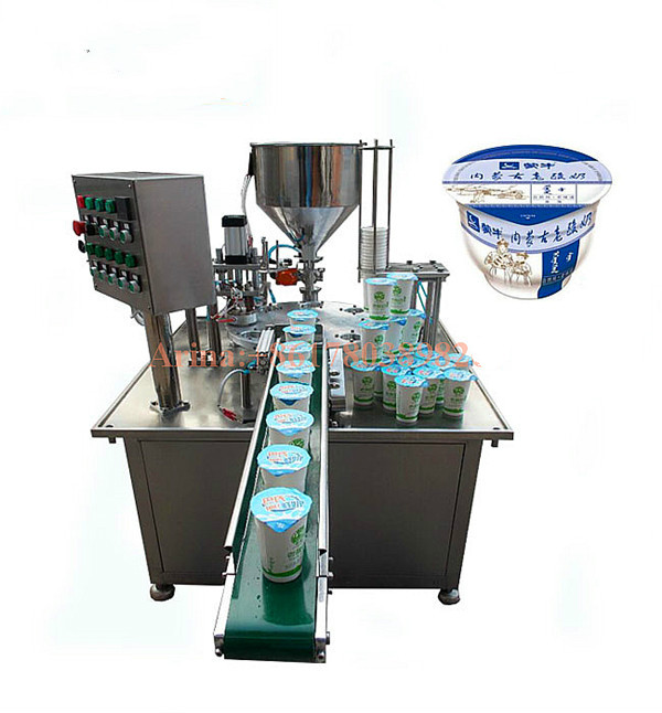 Calippo Cup Filling Machine/ Rotary Ice Cream Cup Filling Sealing Machine/ Calippo Tube Filling and Sealing Machine