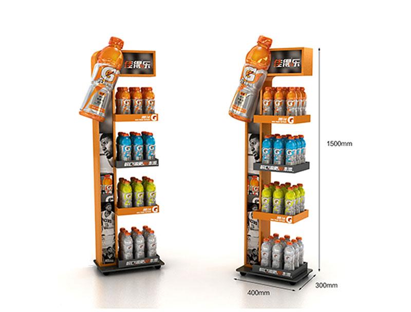 Customized promotional metal floor display stand/ dumpbin/ standee
