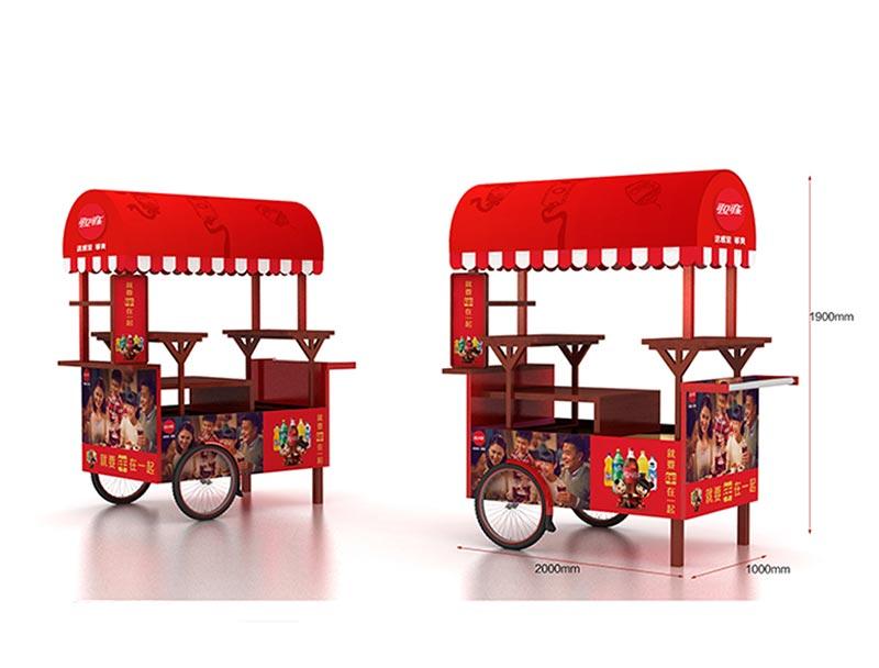 Customized promotional car shape beverage island display/ dumpbin/ standee