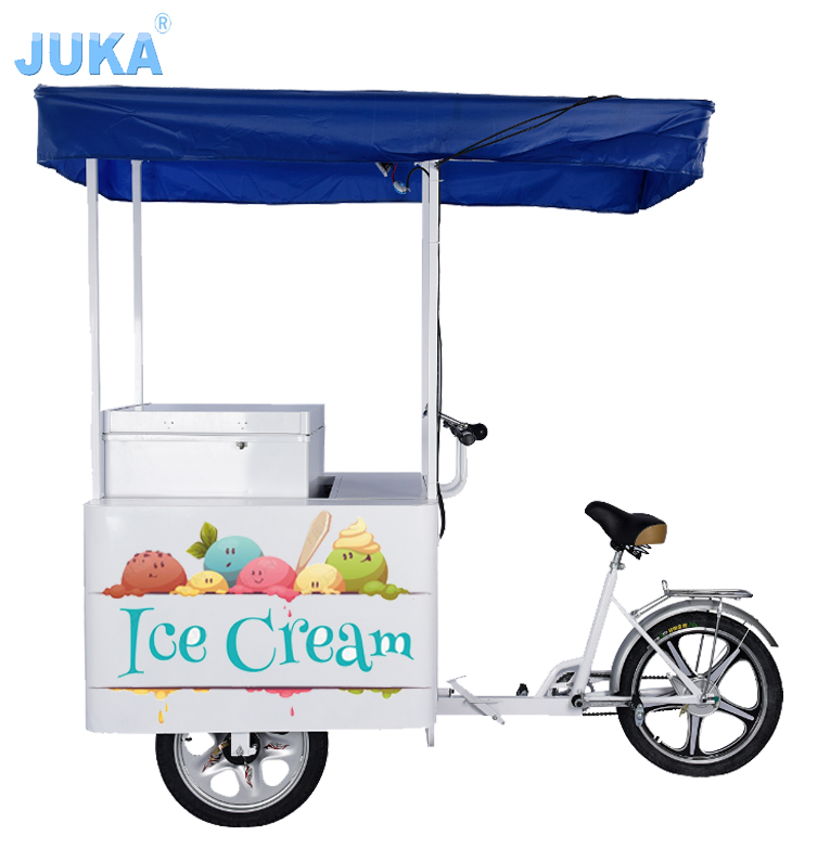 Solar Powered 108Liter Ice Cream Tricycle / Bike / Cart Sale