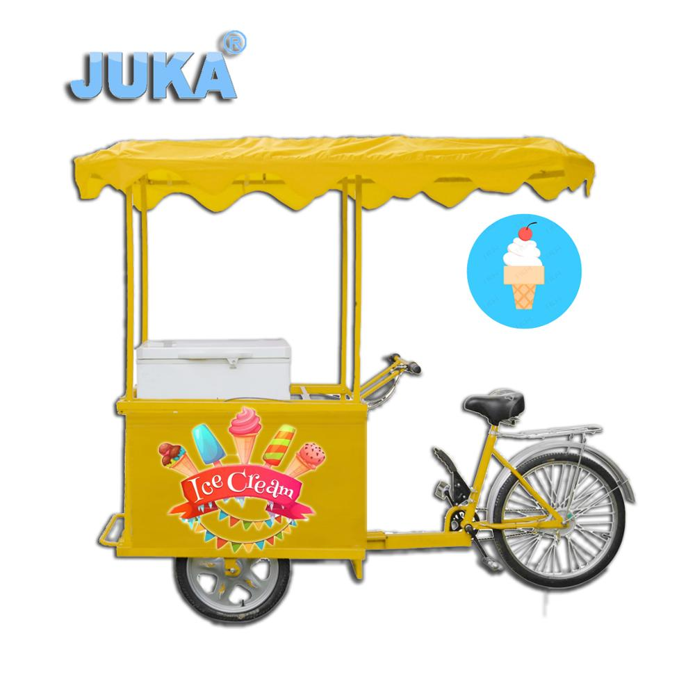 Solar DC 12V 24V Powered 108Liter Ice Cream Tricycle / Bike / Cart hot sale