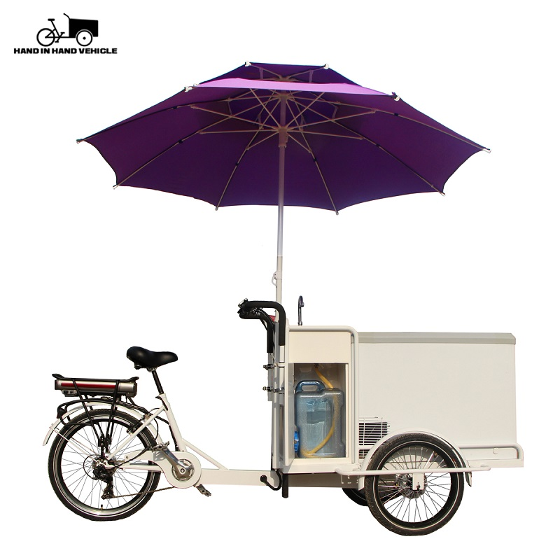 stainless steel ice cream bike food cart cargo bicycle customizable for sale
