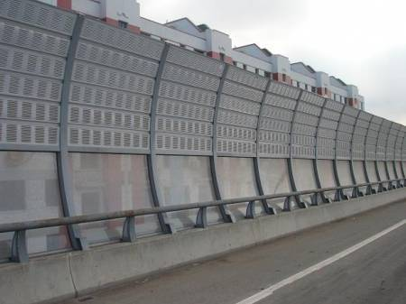 Aluminum Sound Barrier Absorbing Traffic and Machine Noises