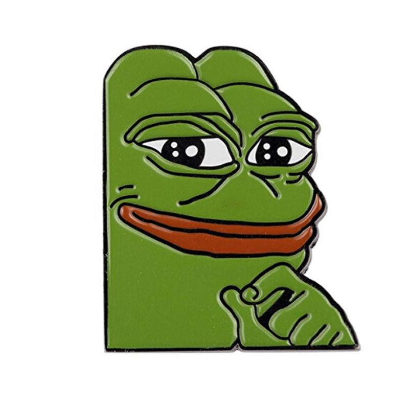 Smug Frog Pepe Custom Lapel Pin
