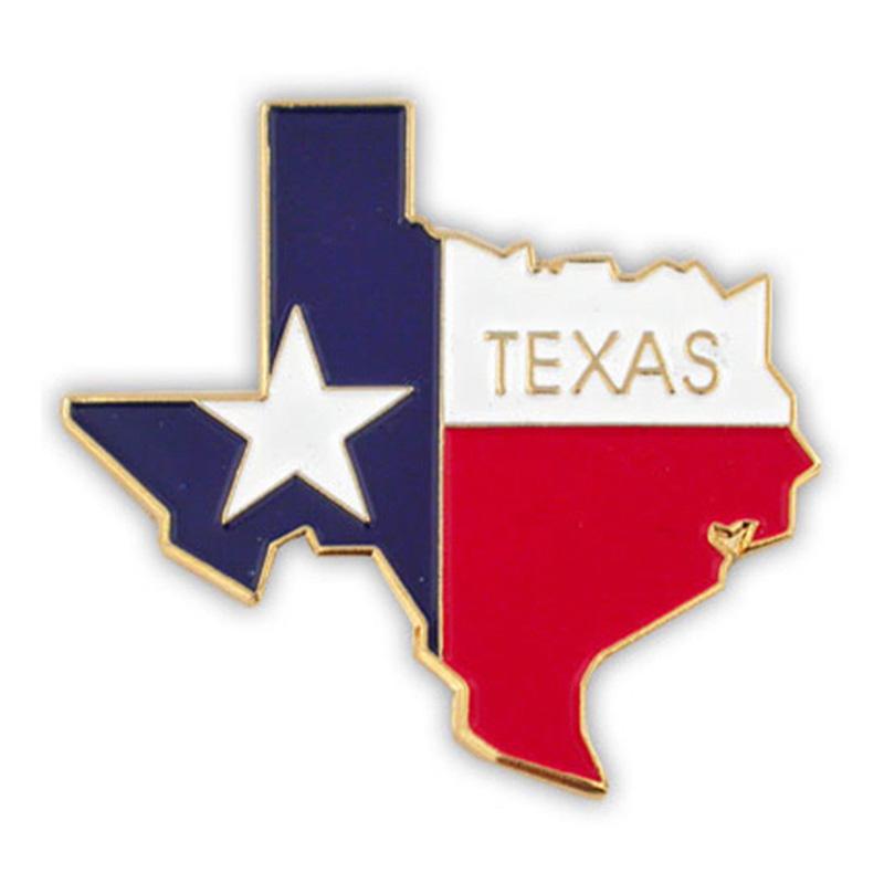 Texas Flag Metal Lapel Pin
