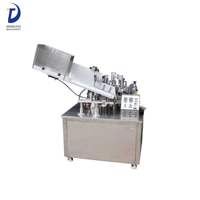 Semi-Automatic hot air heating tube filling and sealing machine for toothpaste,cosmetic,ointment
