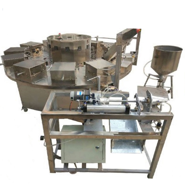 Ice Cream Cone Bulking puffed corn stick making Machine