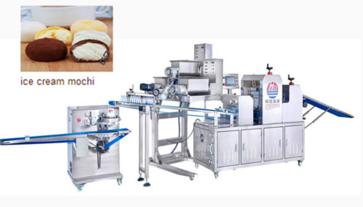 Baking machine ice cream mochi processing equipment for ice cream mochi production line/ice cream mochi baking equipment