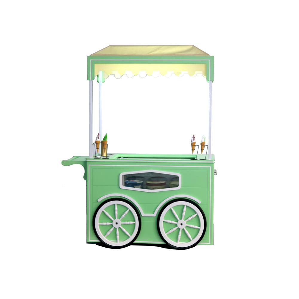 Italian gelato ice cream display vending cart from China