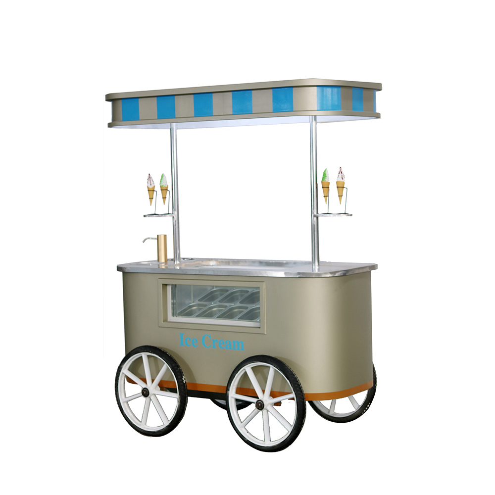Commercial Hot Sale soft Serve Ice Cream display cabinet Cart Manufacturers in China