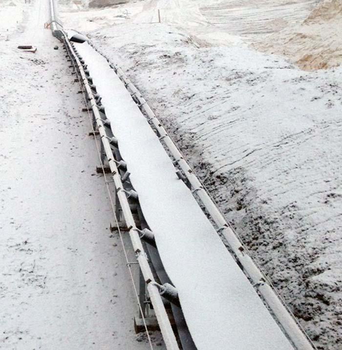 Cold & Fire Resistant Fabric Conveyor Belt