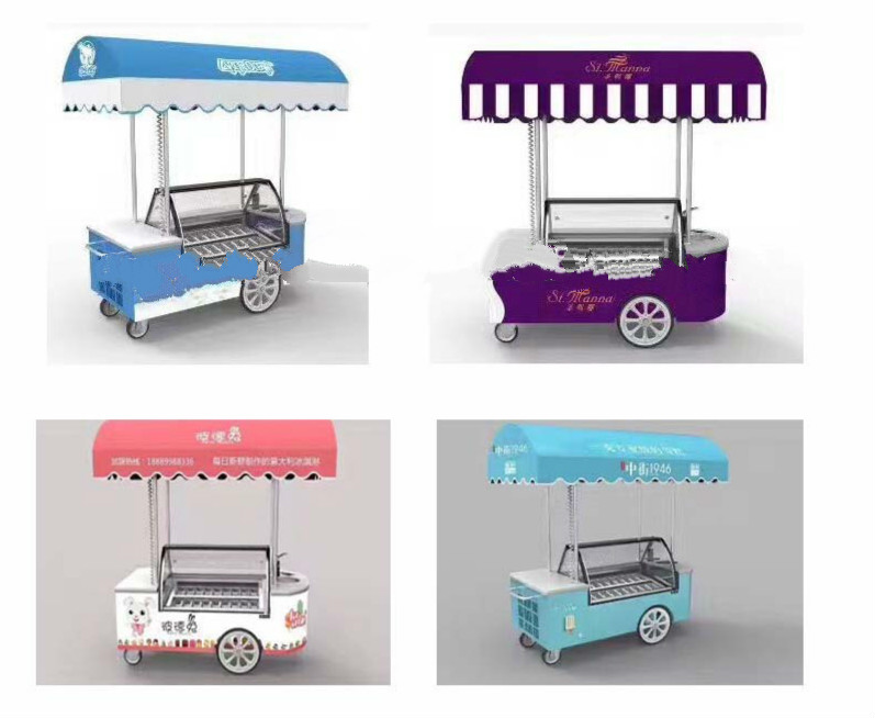 factory price gelato cart for sale/gelato display cart/mobile food ice cream carts