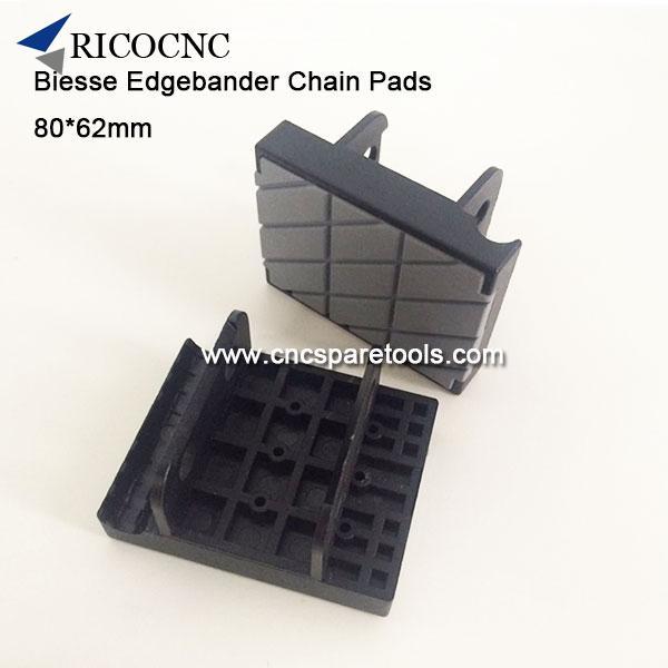 80x62mm Edgebander Track Pads Conveyor Chain Pads for BIESSE Edgebanding Machine